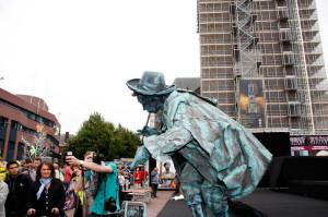 Levende standbeelden in Amersfoort!